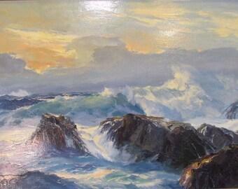 Bennett Bradbury Seascape Oil Painting