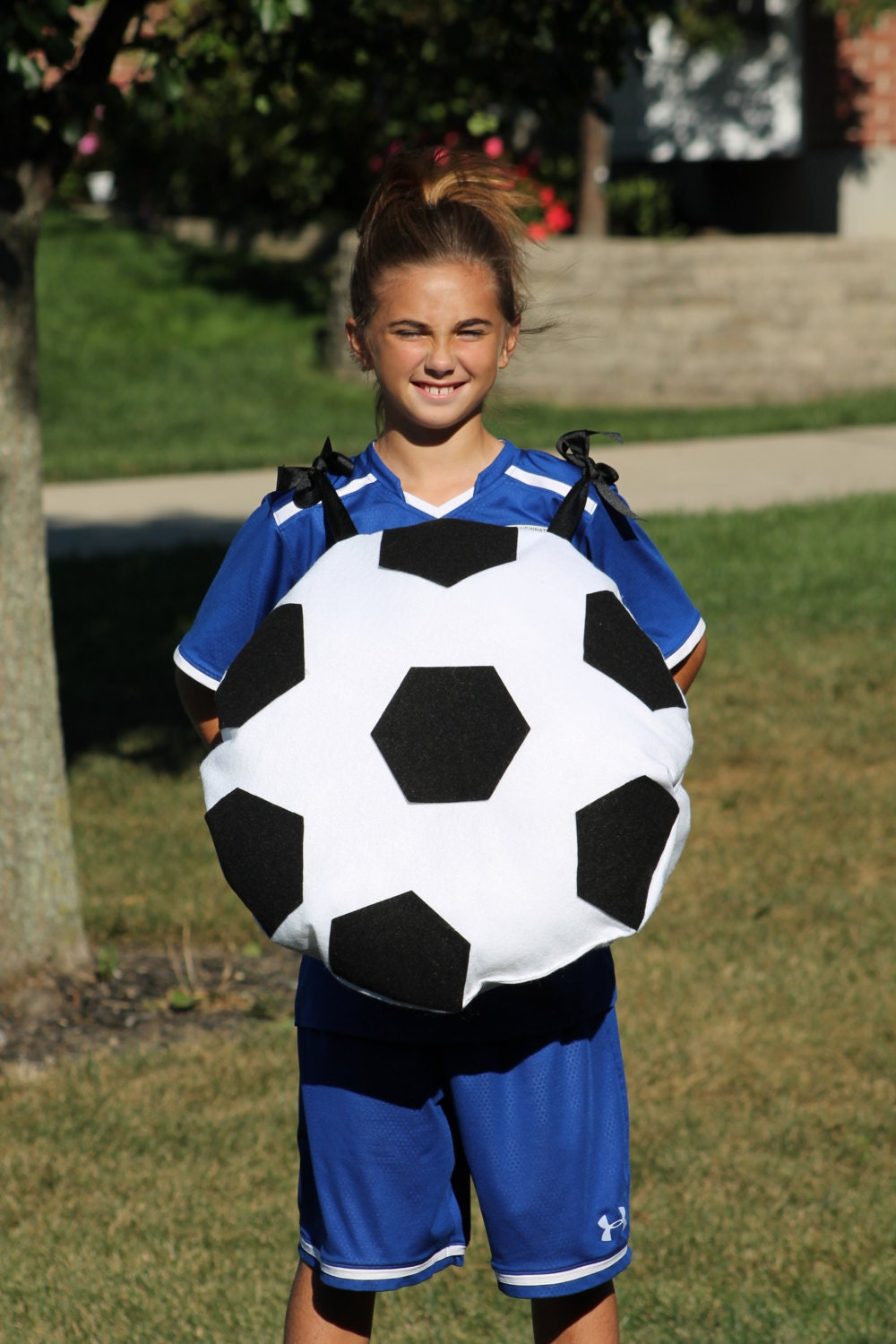 fun halloween costumesoccer ball costume with trick-or-treat | etsy