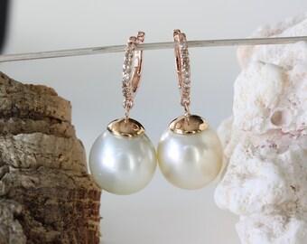 Dream ear rDiamond South Sea pearl RG750 *
