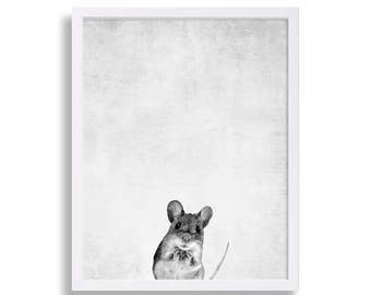 Baby Mouse Print Woodland Animal Nursery Prints Cute Nursery Art Modern Nursery Decor Little Mouse Babys Room Decor Nursery Room Poster