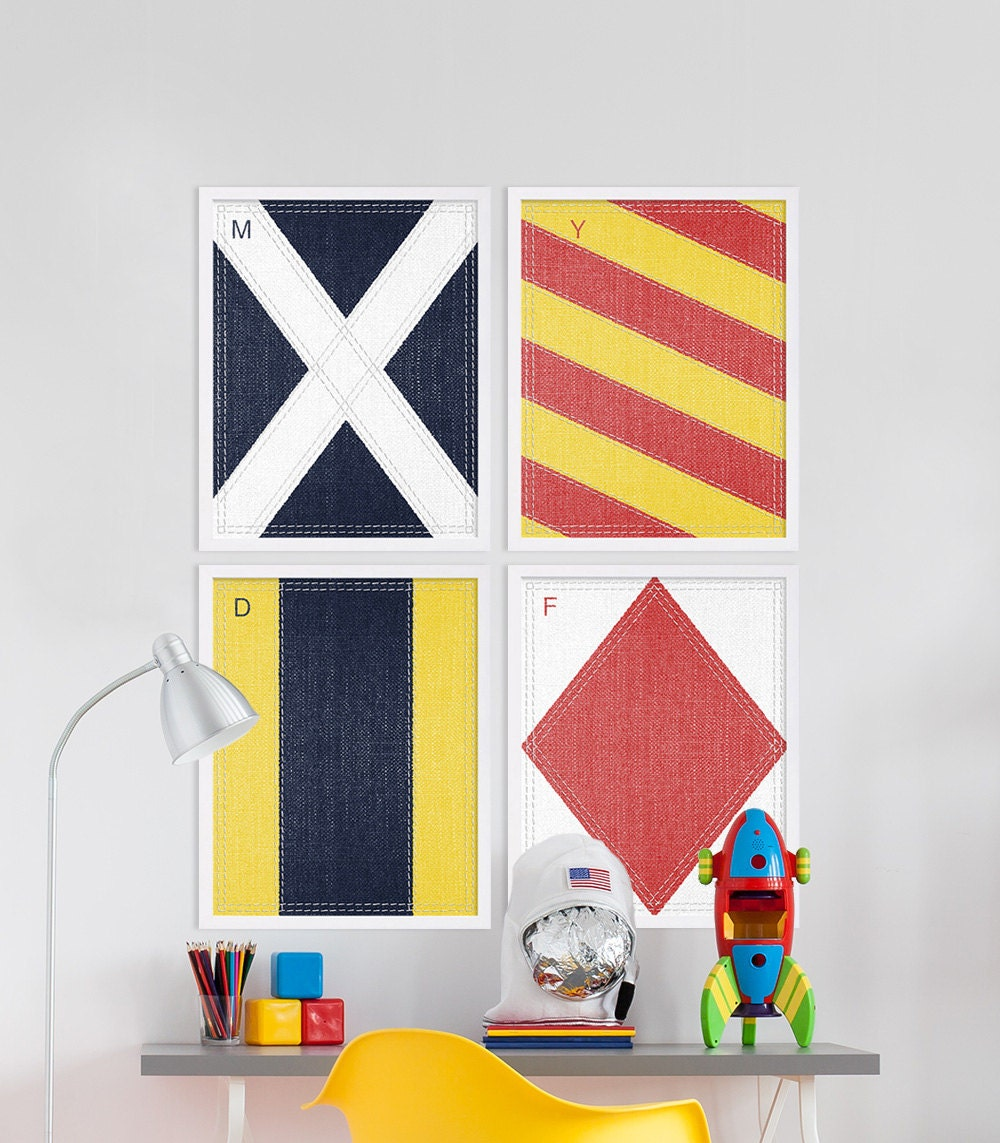 Sophisticated Modern Nautical Nursery: Modern Nursery Art Nautical Nursery Decor Colorful Nursery