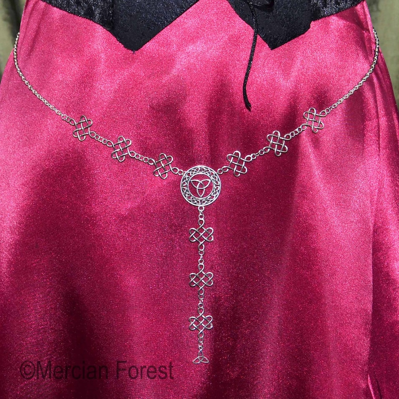 Pagan Jewellery Waist Chain Wicca Witch Celtic Knot Patterns Girdle Belt