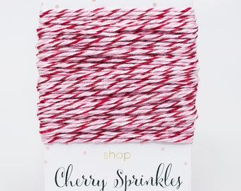 Valentine Red and Pink Bakers Twine -Divine Twine Bakers Twine 4 Ply -Craft DIY Supplies -Wedding Favor -Pretty Packaging -Product Packaging