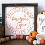 Pumpkin Latte Fall Garland -Autumn Bunting -Autumn Garland  -Fall Colors -Fall Mantle -Mantle Decor -Thanksgiving Mantle -Fall Decor