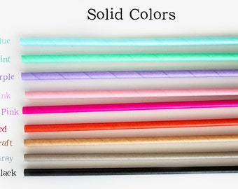 Solid Straws *Pick your own Colors *Gold Straws  *Gold Wedding Decor *Silver Straws *Green Straws *Pink Straws *Red Straws *Blue Straws