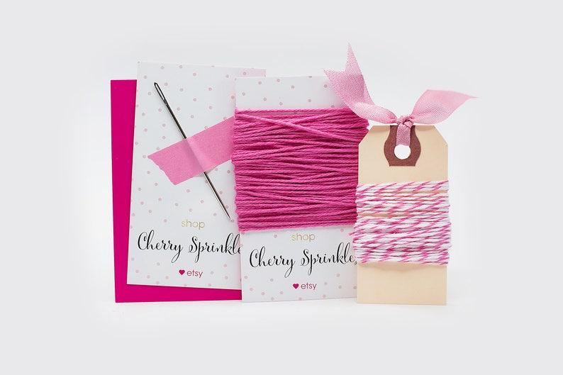 Needle Kit Bakers Twine Divine twine Felt Wool Poms DIY image 0