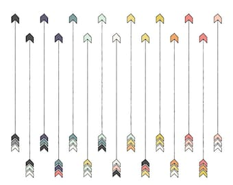 Arrow Clip Art // Tribal ClipArt // Instant Download Digital Clip Art Arrows // Hand Drawn Arrows