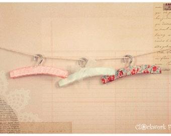 Set of 3 Hangers Vintage - 5 styles MSD/Slim MSD minifee