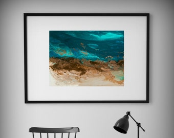 Small Painting Abstract Print, Green and Blue Abstract Art Print, Little Painting Giclee, Small Abstract Print Art, Abstract Painting Print