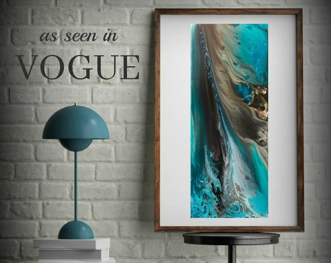 Landscape Watercolor Prints Coastal Wall Art Home Decor Beach Art Watercolour Giclee Prints Blue Painting Blue Wall Art LDawningScott