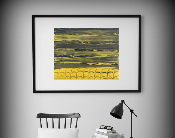 Abstract art Modern Minimalist print Yellow and Gray Painting Wall art Office Decor Canvas print Abstract Art Abstract Print Canvas Art