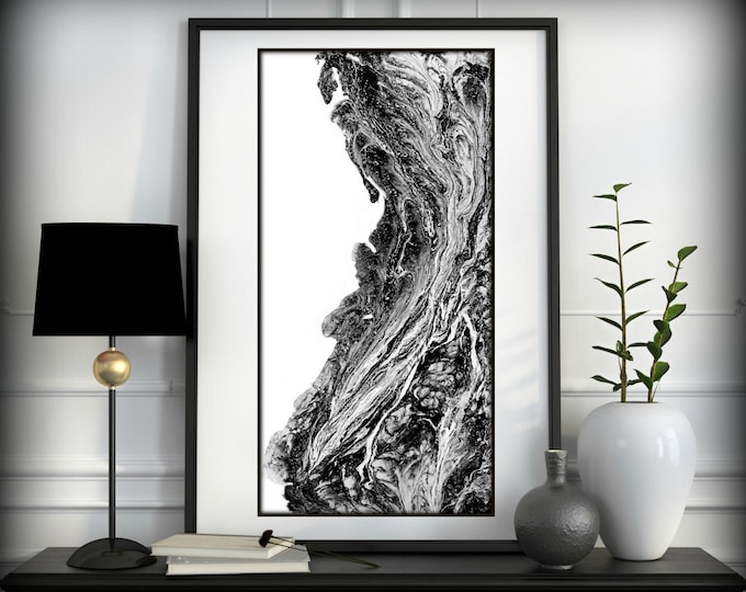 Black and White Prints - Black and White Art -Black and White Wall art - Modern Abstract Art - Black and White Home Decor by L Dawning Scott