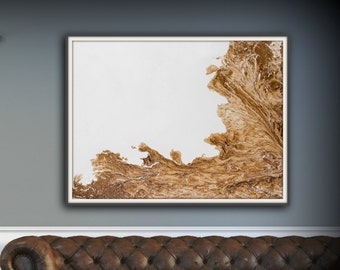 Large Abstract Painting Print Abstract Art Canvas Print, Brown and White Art, Large Abstract Wall Art, Large Abstract Art Fine Art Print