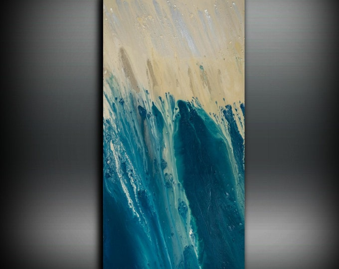 Large Abstract Art Print, Teal Blue Abstract Painting Print, Large Painting Reproduction, Large Teal Painting Large Print Art Canvas Giclee