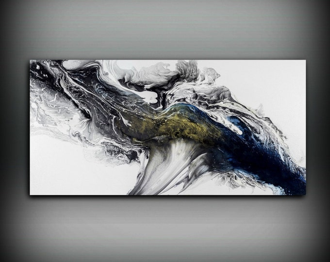 Modern Painting Acrylic Painting 24x48 Art Print Abstract Painting Contemporary Art Abstract Painting Extra Large Wall Art Livingroom Decor