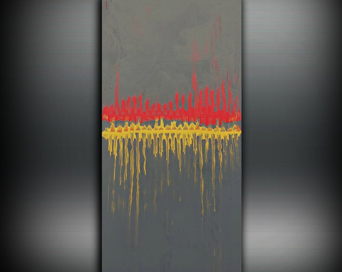 Art Painting Abstract Painting, Acrylic Painting, ORIGINAL PAINTING, Boho Painting, Wall Art Canvas Painting, Fine Art Wall Hanging 24x48