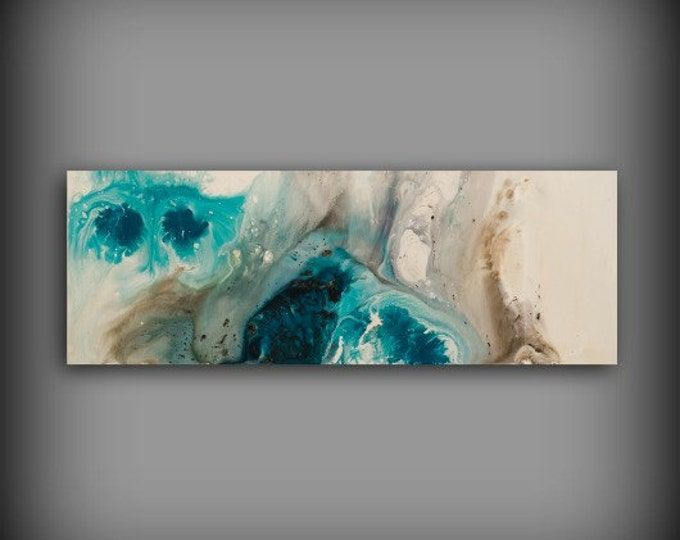 "Minimalist Art Print, Minimalist Decor, 24 x 68"" Blue Wall Decor Bedroom Wall Art, Large Wall Art, Wall Hanging, Office Art , Office Artwork"