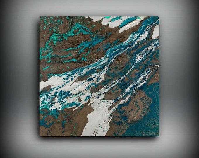 ORIGINAL Painting Art Painting Acrylic Painting Abstract Painting Coastal Wall Hanging Original Wall Art Coastal Home Decor 24 x 24