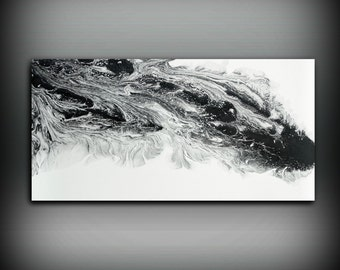 SALE Large Abstract Painting Print Abstract Art Canvas Print, Black And White  Art Large Abstract Wall Art, Large Abstract Art Fine Art Print