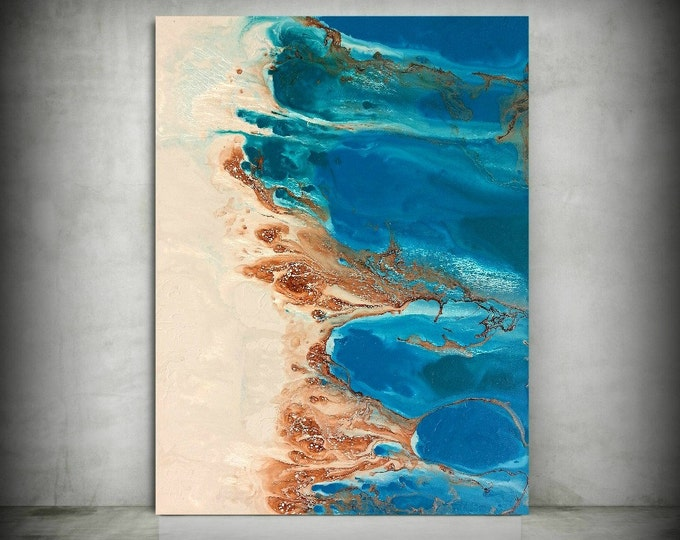 Beach Painting 30 x 40 Abstract Painting Acrylic Painting Abstract Wall Art Large Wall Art Canvas Coastal Home Decor Wall Hanging Canvas