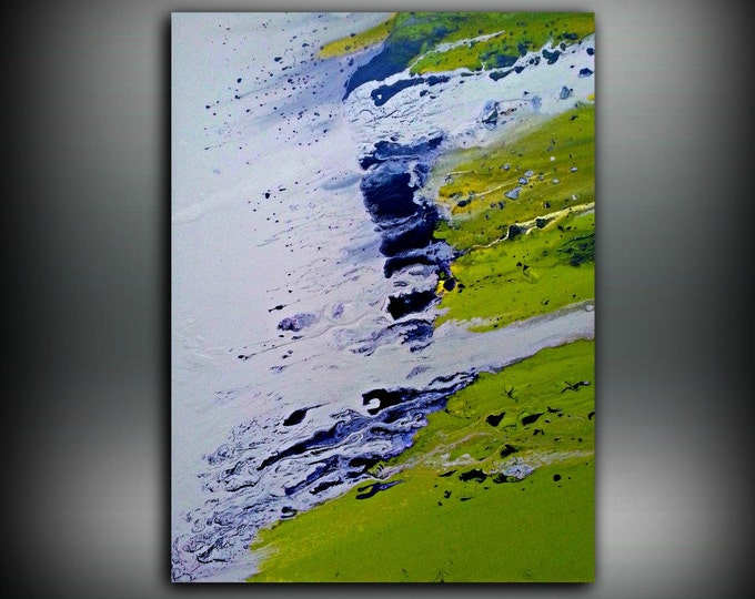 Art Painting Acrylic Paintings Abstract painting Chartreuse LARGE Wall Art canvas Home Decor Fine Artby LDawningScott 30 x 40""