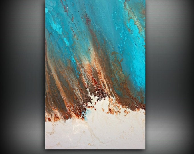 Art Painting, ORIGINAL Painting, Acrylic Painting Abstract Painting, Coastal Painting, Modern Art Large Wall Art, Coastal Home Decor 24 x 36