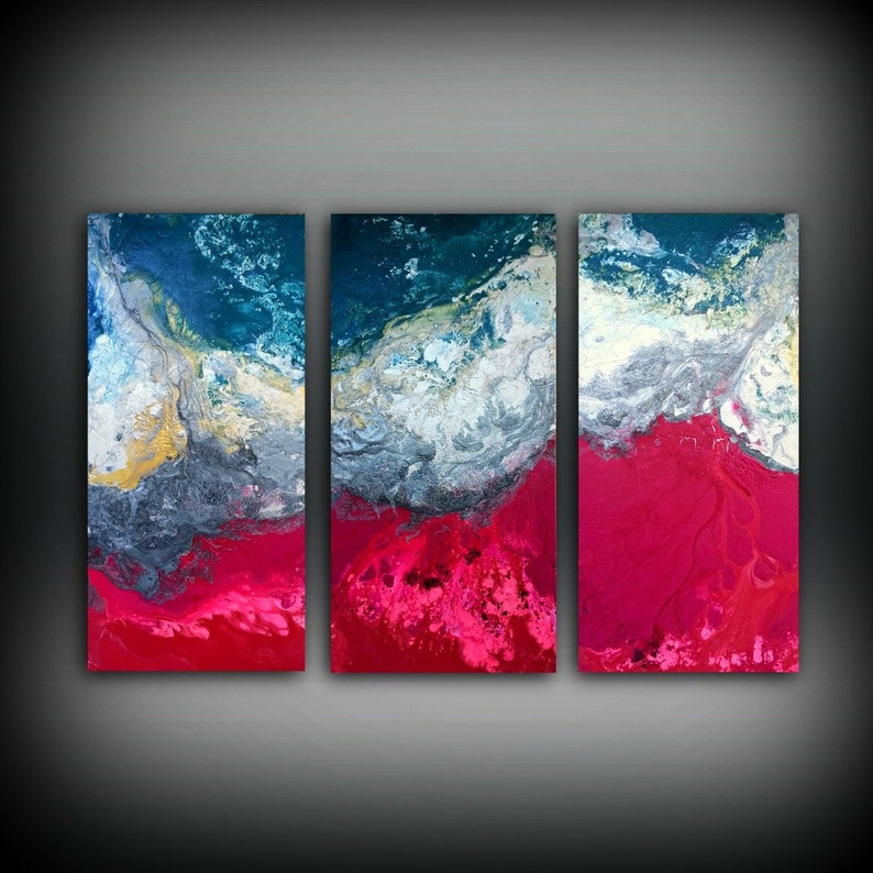 Magenta Painting 48 x 72 Acrylic Painting Canvas Art Abstract image 0