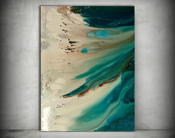 Art Painting, ORIGINAL Painting, Acrylic Painting Abstract Painting, Coastal Painting, Extra Large Wall Art, Coastal Home Decor 36 x 48