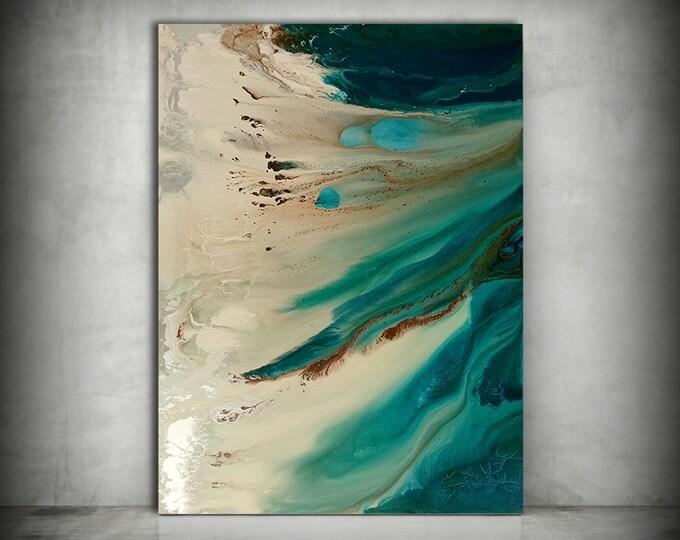 Beach Painting, ORIGINAL Painting, Acrylic Painting Abstract Painting, Coastal Painting, Extra Large Wall Art, Coastal Home Decor 36 x 48
