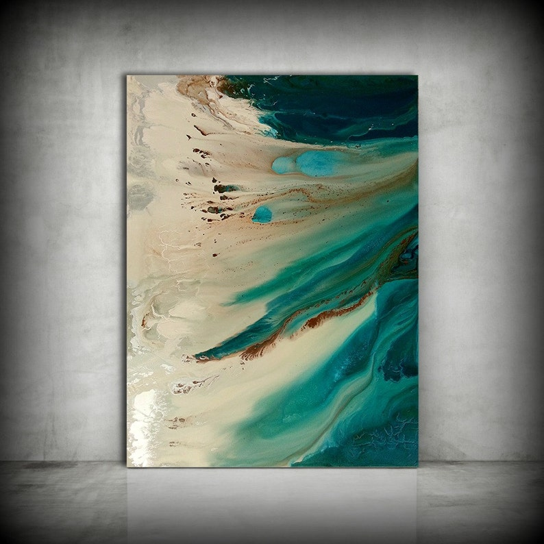 Beach Painting ORIGINAL Painting Acrylic Painting Abstract image 0