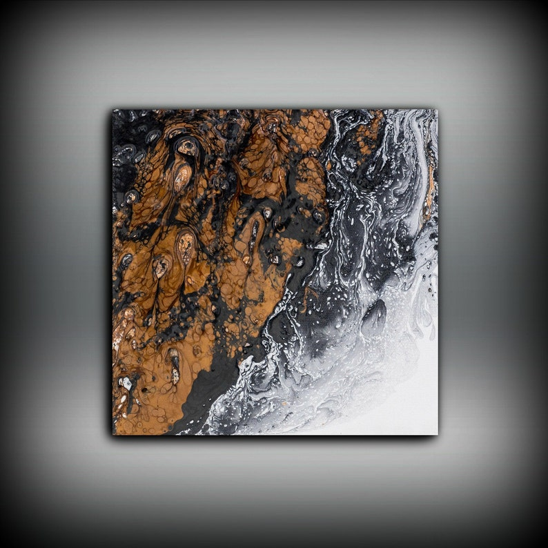 Copper Painting Art Painting Original Abstract Painting image 0
