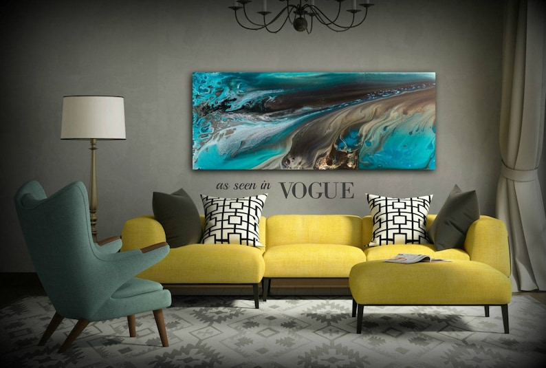 GICLEE PRINTS Art Abstract Painting Coastal Home Decor Modern image 0
