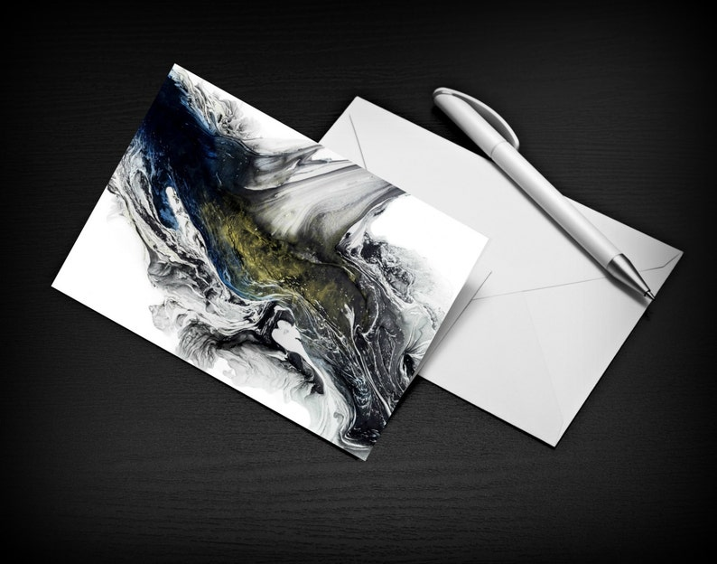 Fine Art Card Greeting Cards Blank Stationary Set Thank you image 0
