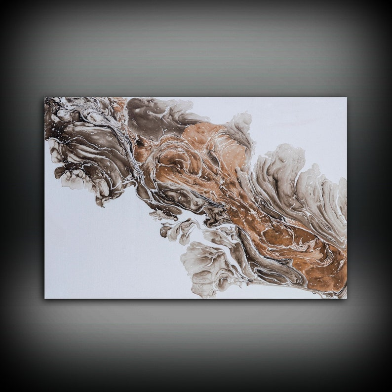 White Painting 24 x36 Acrylic Painting Canvas Art Abstract image 0