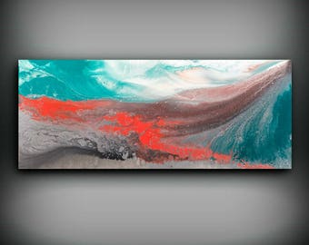 Abstract Art, Large Abstract Print , Giclee Print , Canvas print, Modern Art Fine Art Print Abstract Expressionism Wall Decor Coral Wall art