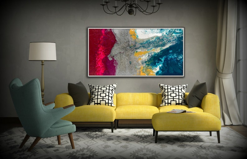 Pink Painting Large Wall Art Gifts For Her Abstract Painting image 0