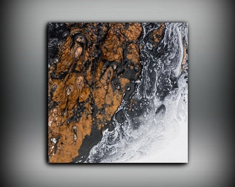 Giclee Abstract Fine Art Print from Original Oil Abstract Painting 8 x 8 - 20 x 20 / Copper Wall Art Gift for Boss / Home Decor Print
