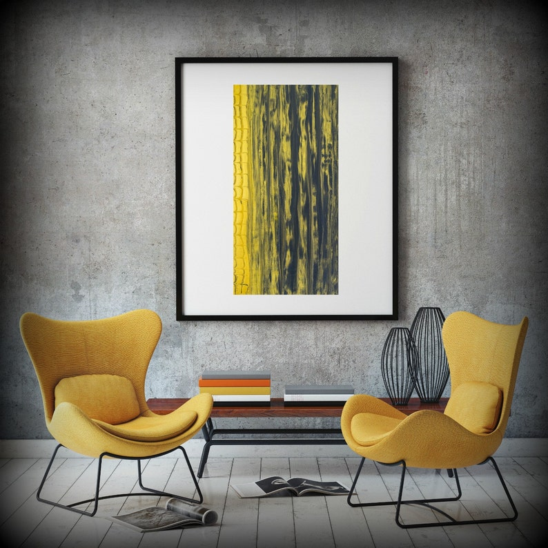 Giclee Abstract Fine Art Print from Original Acrylic Abstract image 0