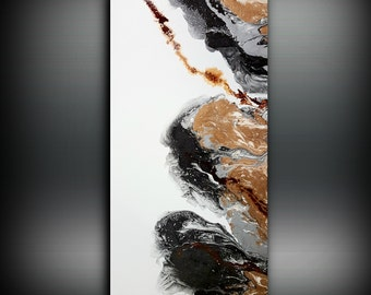 Abstract Art, Original Painting, Canvas Painting, Modern Art, Canvas Wall Decor, Painting Abstract, Original Artwork, Large Painting Copper