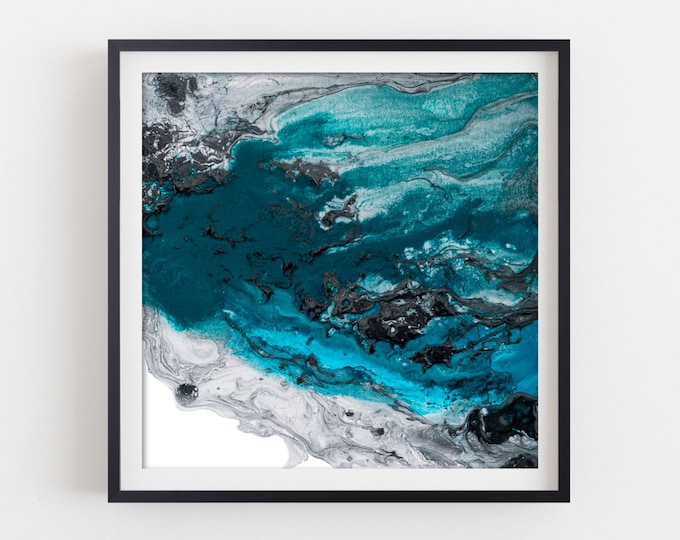 Blue Abstract Art Print, Giclee Print, Abstract Painting, Modern Art , Fine Art Print, Contemporary Art, Wall Decor, Teal Blue