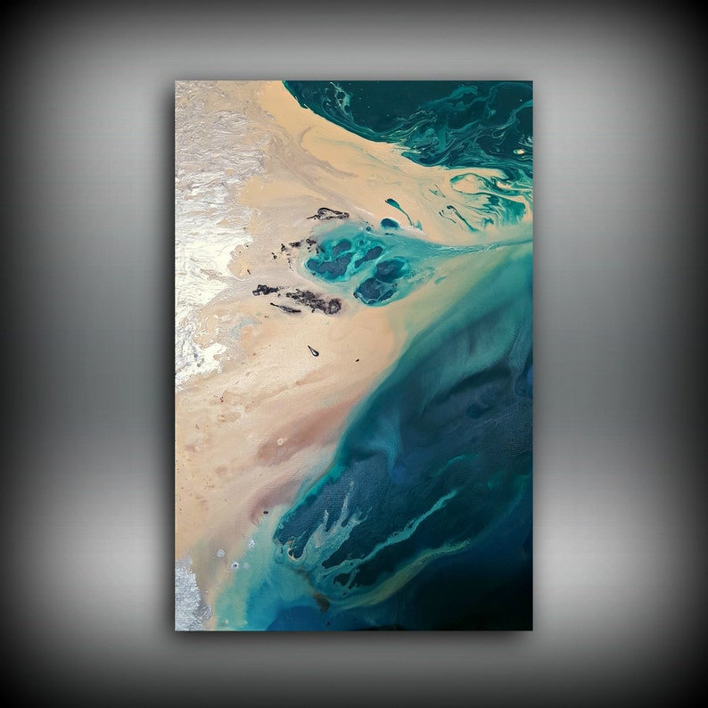 Beach Painting 24 x 36 Abstract Painting Acrylic Painting image 0