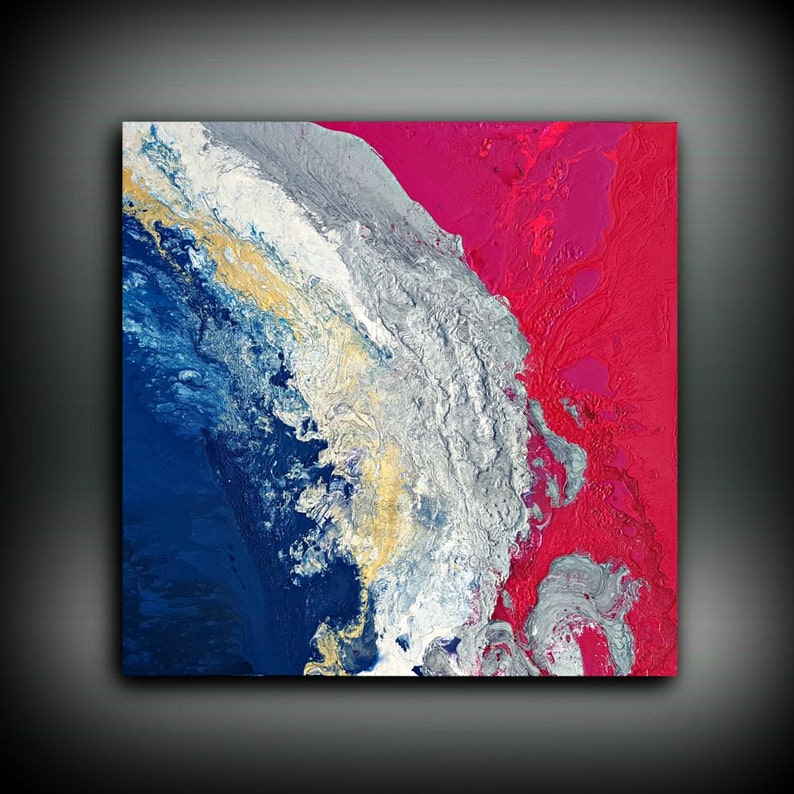 Pink and Blue Painting 36 x 36 Acrylic Painting image 0