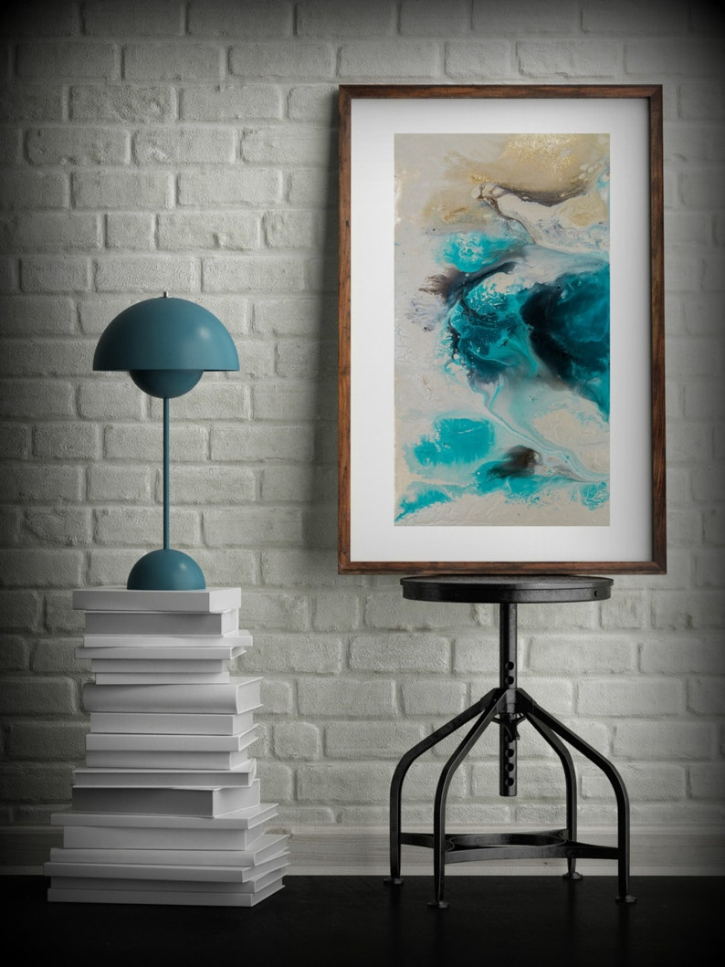 Zen Painting Watercolor Painting Office Art Print Abstract image 0