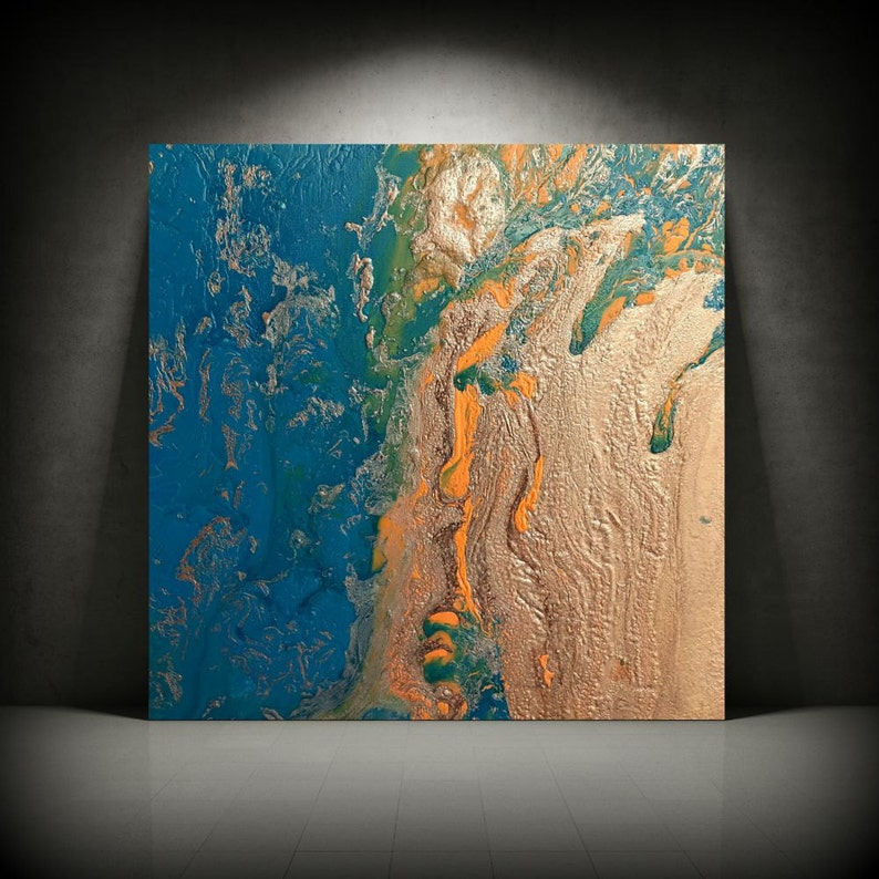 Copper Painting 24 x 24 Acrylic Painting on image 0