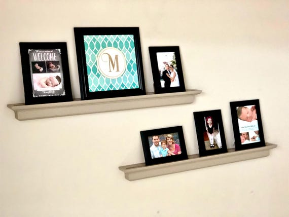 Picture Ledge Shelf Floating Picture Shelf Picture Frame Etsy