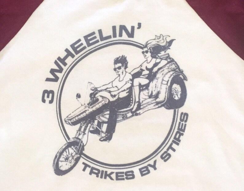 bdec5919 Threewheelin' Motorcycle Sleeveless Baseball Tee Maroon | Etsy