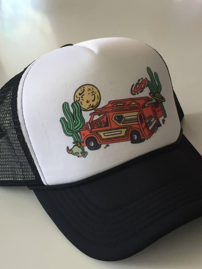 c2a81e624c108 Desert Vanners Trucker Hat Classic Rock Couture Logo Mesh