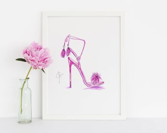 The Tassel Heel (Fashion Illustration Print)