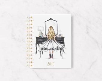 PRE- ORDER 2019 Melsy's Illustrations Planner (The Black Vanity - Blonde)