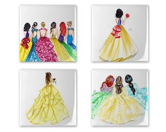 Princess Coaster Set of 4
